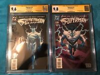 Superman #123 Glow and Reg set - DC - CGC SS 9.6 9.8 - Signed by Ron Frenz