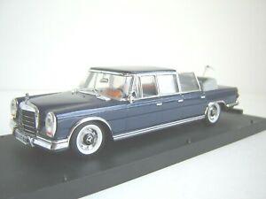Mercedes 600 Pulmann 1965 cabriolet bleu , Vitesse 1/43