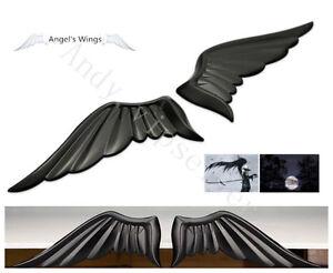 2Pcs Eagle Angel Wings Badge For Car Body Hood Side Trunk Lid Sticker Emblems