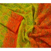 Tcw  Vintage Dupatta Long Stole Blend Georgette Hand Embroidered Kantha