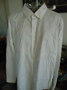 Mens 18 36/37 Nordstrom Rack White LS Dress Shirt Flaw