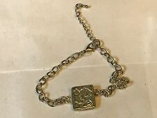 2nd Class Stamp TG136 Fine English Pewter on a Anklet / Bracelet