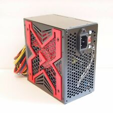 NEW--Powork RED 650w-Max ATX Power Supply 12cm Fan, 20+4pin, SATA & PCIe