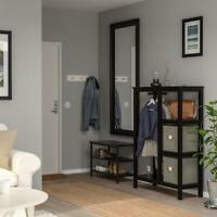 Wardrobe, Wardrobe, Open, Storage, 99x37x130 CM, Black-Brown, Partition