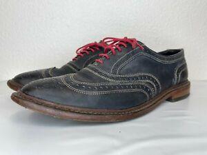 1*70 Allen Edmonds Navy Neumok Lace Up Wingtip Men's Oxfords Size 11.5 D