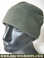 POLAR FLEECE WATCH CAP BEANIE/ OLIVE COLOR/ MILITARY/ HIGH QUALITY