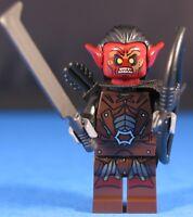 LEGO® LORD OF THE RINGS™ URUK HAI BOWMAN Custom Minifigure +Dk Red POINTED EARS