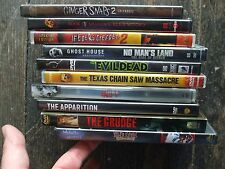 DVD HORROR LOT APPARITION GRUDGE SAW V EVIL DEAD KILLER KLOWNS TEXAS CHAIN SAW