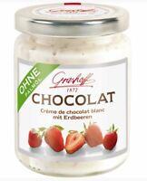 Grashoff Chocolat Crème De Chocolat Blanc Strawberry 250g Cream from Germany