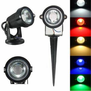 3W 6W 9W COB LED Landscape Light Flood Spot Garden Path Walkway Light 6 colors