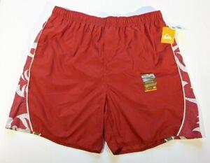 Quicksilver Board Swim Shorts Men's Trunks Sz XL Orange Color Floral