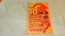 BETTER HOMES AND GARDENS 50 GREAT RECIPES FOR CAMP COOKING COOKBOOK FREE US SHIP
