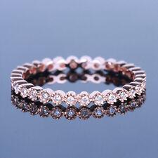 FULL Eternity Band SI Diamond Engagement  wedding Ring Setting 14K Rose Gold