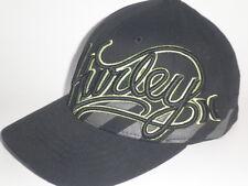 Youth Hurley MIDORI Hat Black Lime Green OSFA ($25) NEW Flex Boys Kids Cap Surf