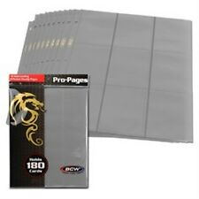 1 pack of 10 BCW 18 Pocket Side Loading Pages MTG Gaming Card Holder GRAY