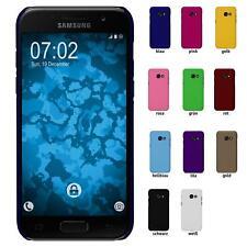 Samsung Galaxy A5 2017 Schutzhülle Hardcover gummiert Case rot