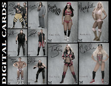 TOPPS WWE SLAM EXHIBIT WAVE 3 [SET 10 CARDS SIGNATURE DIE CUTS]