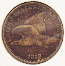 1858 LARGE LETTERS FLYING EAGLE ONE CENT VERY NICE COIN LQQK