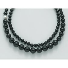 collana Laccio donna Miluna PCL4659v argento perle Nero Onice nera barocca