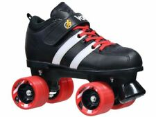 Custom Riedell Red Volt Quad Derby Speed Roller Skates w/ Dart Wheels & Laces