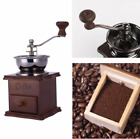 Manual Coffee Bean Spice Herbs Vintage Retro Hand Grinder Wooden Burr Mill US