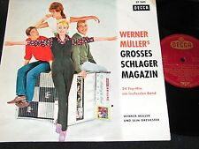 "WERNER MÜLLER Grosses Schlagermagazin / 50s German 10""EP DECCA LF 1611"
