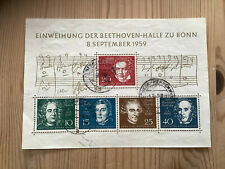 Bund Block Nr. 2 Beethoven gestempelt