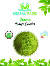 100G ORGANIC CERTIFIED INDIGO POWDER- EXPORT QUALITY - HALAL /USDA CERT