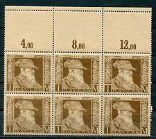 Bayern: Mi.Nr.86I Sechserblock postfrisch, Attest Helbig BPP. Mi: 1560,- +
