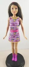 New Barbie Sisters Fun Skipper Doll With Purple Star Dress Shoes Fashion Outfit