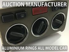 Land Rover Freelander Heater Control Surrounds Dash Chrome Rings Polished Alloy