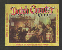 DUTCH COUNTRY BEER BOTTLE LABEL READING PA - UNUSED
