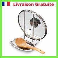 Support Couvercle Casserole Porte Spatule Acier inoxydable Rangement Cuisine