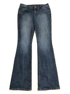LEI Ashley Lowrise Boot Jeans Medium Wash Stretch Denim Juniors Size 7 Regular