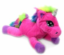 Snuggle Pals Plush Rainbow Unicorn Soft Toy ~ Pink