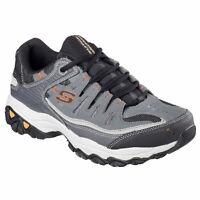 Skechers Men's After Burn Memory Fit Low Top Sneaker Shoes Gray Footwear Acti...