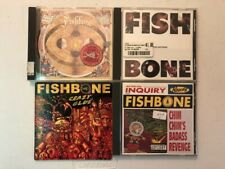 FISHBONE CD LOT OF 4! GIVE A MONKEY,SUNLESS,CRAZY GLUE,CHIM CHIM'S REVENGE!