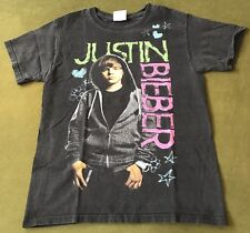 Justin Bieber T-Shirt Men's Small Pop R&B Music Tour Concert Graphic Band Tee