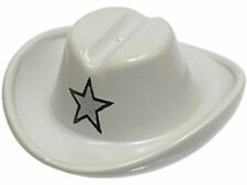 LEGO  Minifig, Headgear Hat Cowboy w/ Silver Star Pattern Light Gray brand new