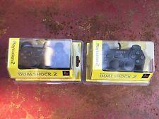 Genuine Sony PlayStation 2 PS2 Black Dualshock 2 Analog Controller NEW