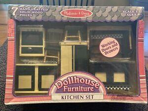 Melissa & Doug Dollhouse Furniture Kitchen Set NEW SEALED