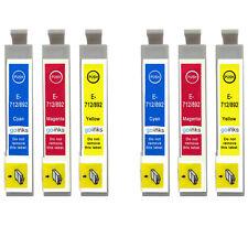 6 C/M/Y Ink Cartridges for Epson Stylus D92 DX6000 DX9400F SX110 SX400 SX610FW
