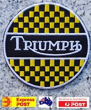 Triumph Motorcycle Vest Embroidered Patches Badge Iron Sew On