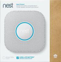 Nest Protect 2nd Generation (Battery) Smart Smoke/Carbon Monoxide Alarm - White