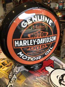 Harley Davidson Motor Oil Repro Bowser Globe