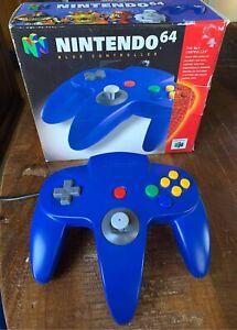 Nintendo 64 N64 Original OEM Blue Controller NUS-005 Complete In Box CIB TESTED
