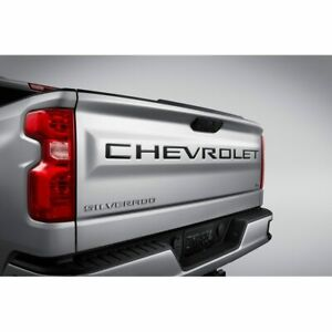 2019 2020 Chevrolet Silverado Genuine GM Black Tailgate Lettering 84370615