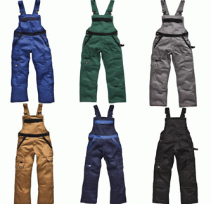 Dickies IN30040 Industry 300 Heavy Work Dungaree Overalls Bib & Brace Trousers