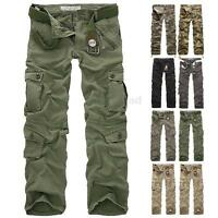 PODOM Herrenmode Pants Militär Trousers Jeans Army Freizeithose Cargo Hose