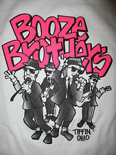 BOOZE BROTHERS CONCERT T SHIRT Ohio Blues Bar Party Rock vtg 90s Band Tiffin M